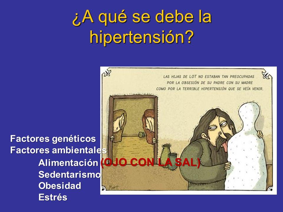 La hipertensión no suele producir molestias (por eso se llama el asesino silencioso) O sea que para saber si uno es hipertenso, hay que tomarse la tensión