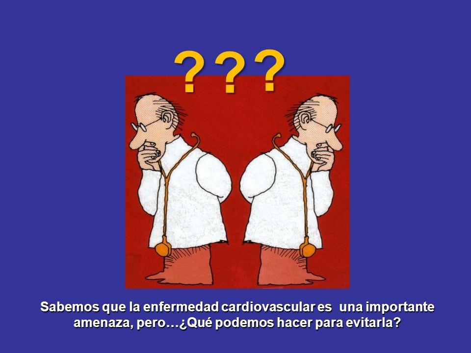 Sabemos que la enfermedad cardiovascular es una importante amenaza, pero…¿Qué podemos hacer para evitarla? ? ? ?
