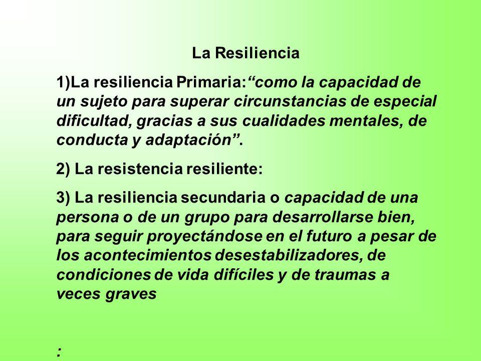 La fuente fundamental de la resiliencia primaria: los cuidados, los buenos tratos Cuidar y ser cuidado es fundamental para estar vivo y en buena salud.