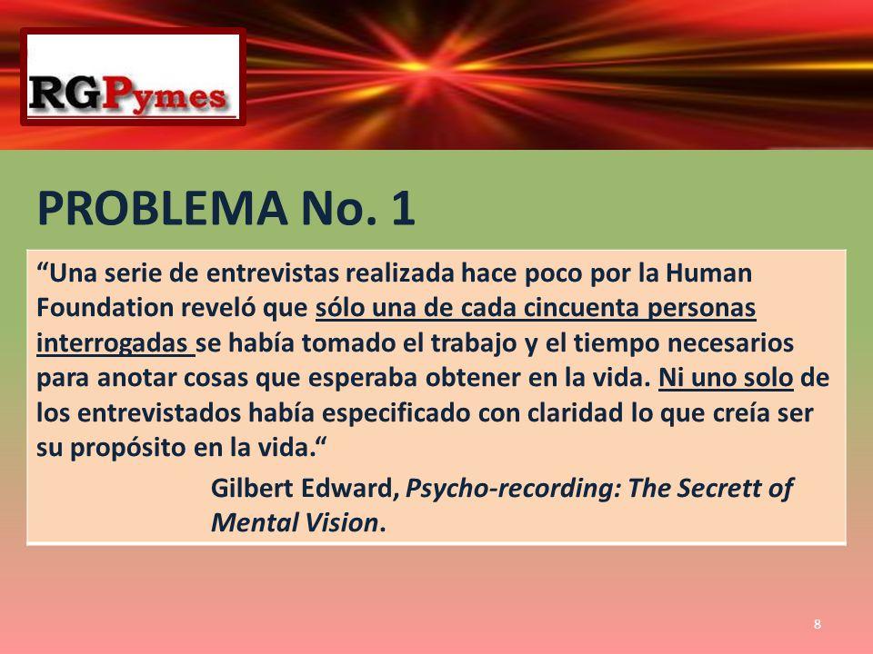 PROBLEMA No. 1 Una serie de entrevistas realizada hace poco por la Human Foundation reveló que sólo una de cada cincuenta personas interrogadas se hab