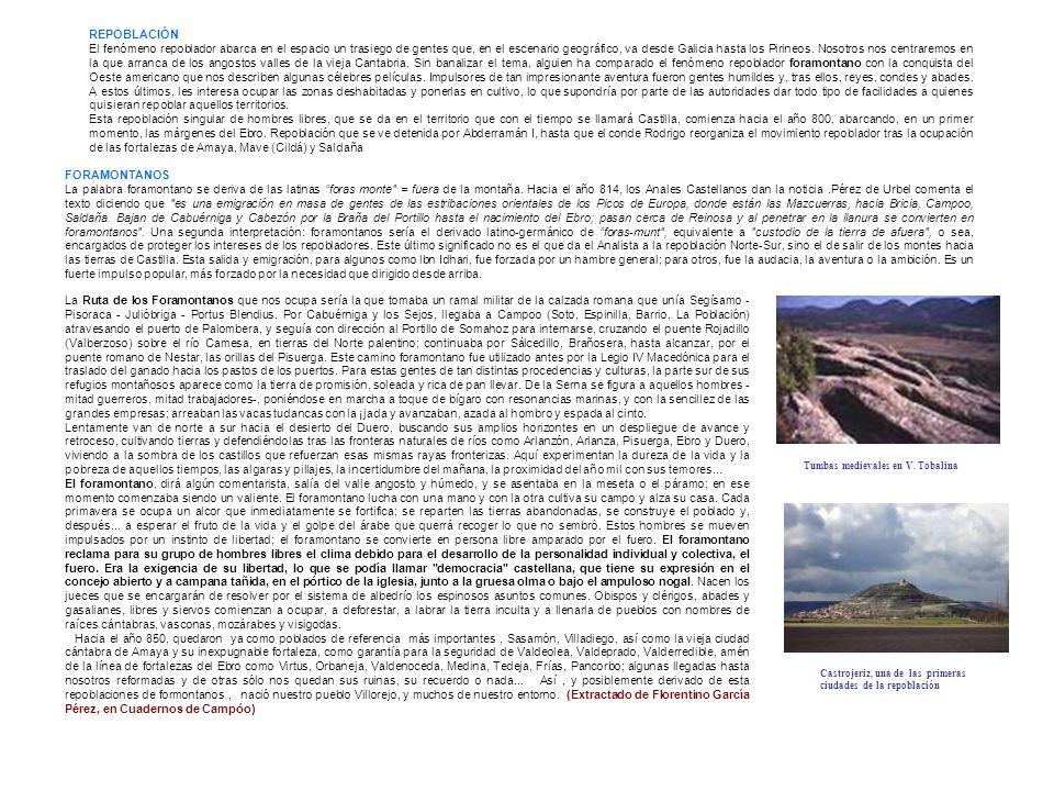 REPOBLACIÓN El fenómeno repoblador abarca en el espacio un trasiego de gentes que, en el escenario geográfico, va desde Galicia hasta los Pirineos. No