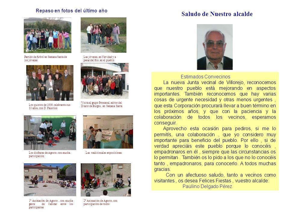 Entrevista con … Sr.Apolinar y Sra. Irene Nacieron en Villorejo y vivieron aquí muchos años.