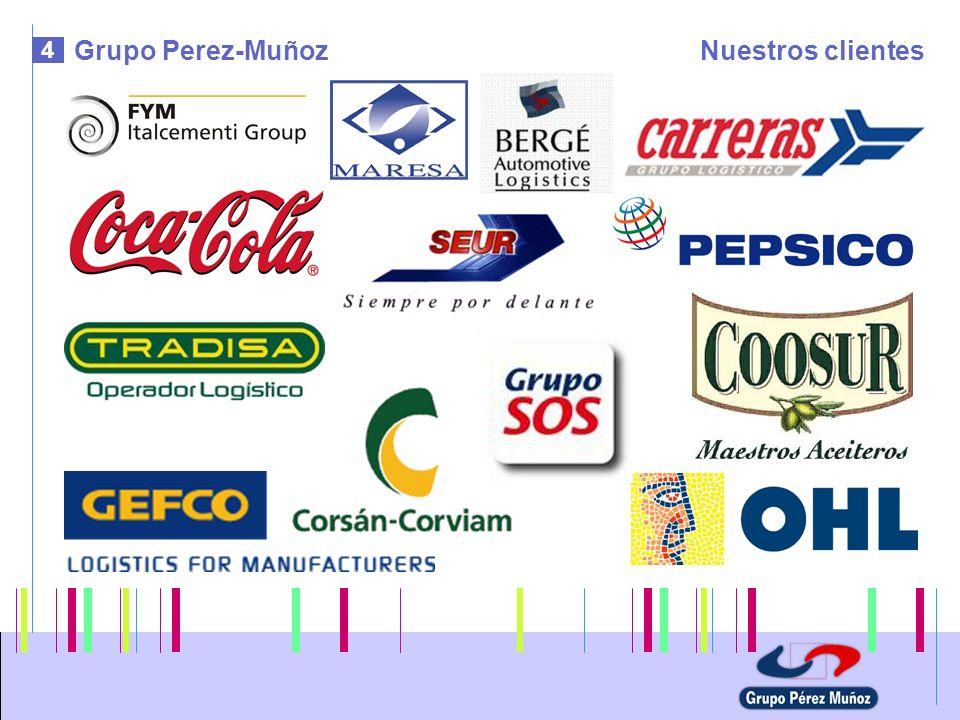 5 Empresas del grupoAgencia Perez Muñoz Transportes AGENCIA PEREZ MUÑOZ TRANSPORTES - Autovia de Campanillas - c/Gluck, 1 - 29590 MALAGA – España Tlf.: +34 952 437 677 - Fax: +34 952 437 501