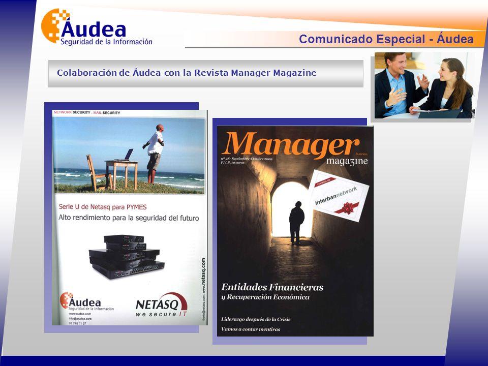 Comunicado Especial - Áudea Colaboración de Áudea con la Revista Manager Magazine