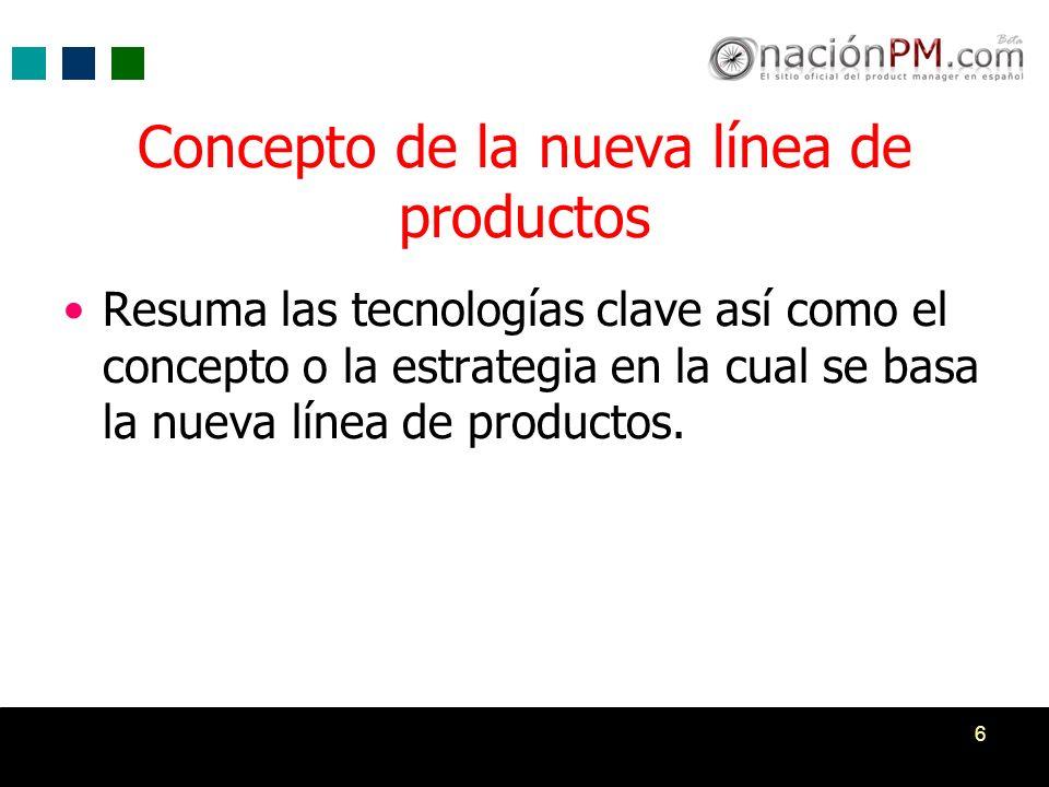 7 Competencia Resumen de los competidores Descripción de la ventaja competitiva de la nueva línea de productos.