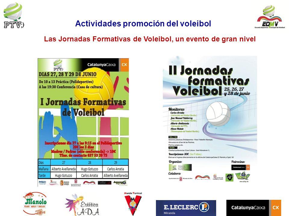 Las Jornadas Formativas de Voleibol, un evento de gran nivel Actividades promoción del voleibol