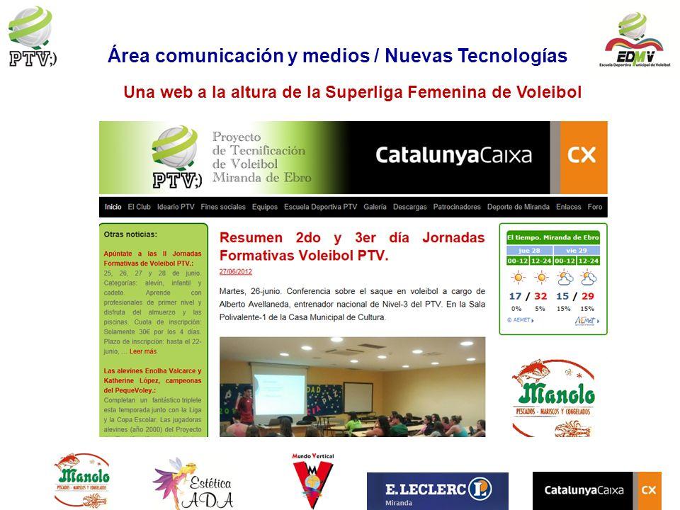 Área comunicación y medios / Nuevas Tecnologías Una web a la altura de la Superliga Femenina de Voleibol