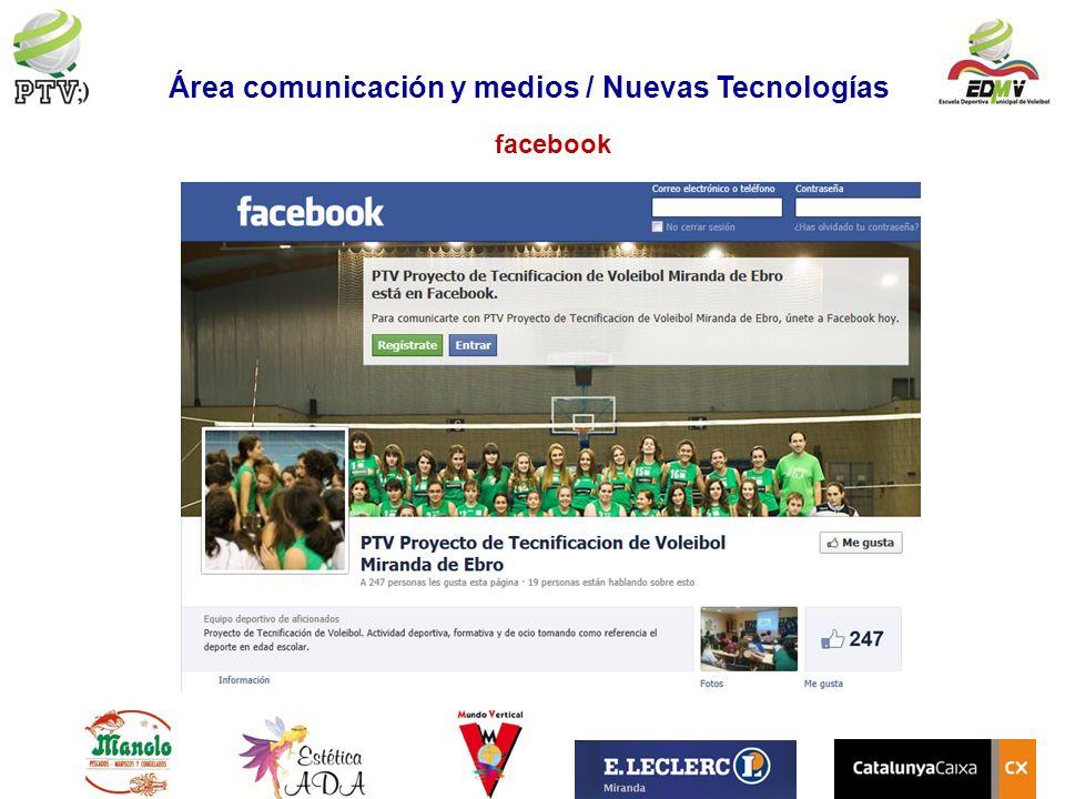facebook Área comunicación y medios / Nuevas Tecnologías