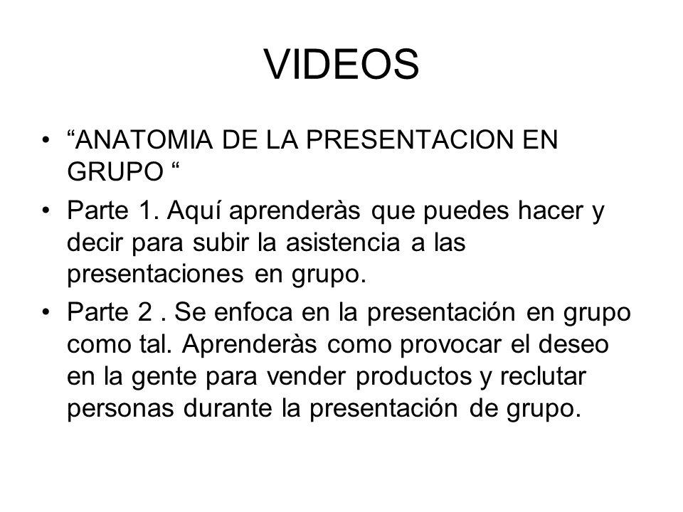 VIDEOS ANATOMIA DE LA PRESENTACION EN GRUPO Parte 1. Aquí aprenderàs que puedes hacer y decir para subir la asistencia a las presentaciones en grupo.