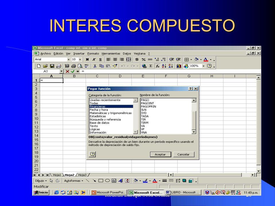 Rodolfo Enrique Sosa Gómez20 INTERES COMPUESTO