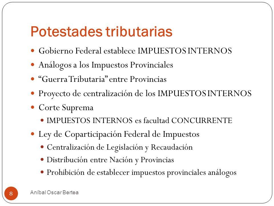 Potestades tributarias Constitución Nacional 1994 9 Aníbal Oscar Bertea