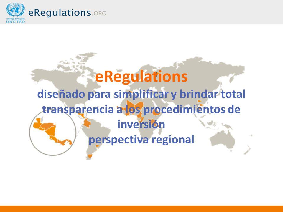 eRegulations diseñado para simplificar y brindar total transparencia a los procedimientos de inversión perspectiva regional