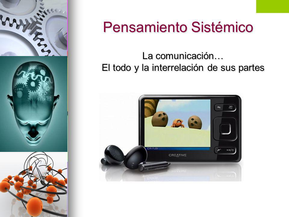 Pensamiento Sistémico La comunicación… El todo y la interrelación de sus partes Vínculos problemas en el paraíso