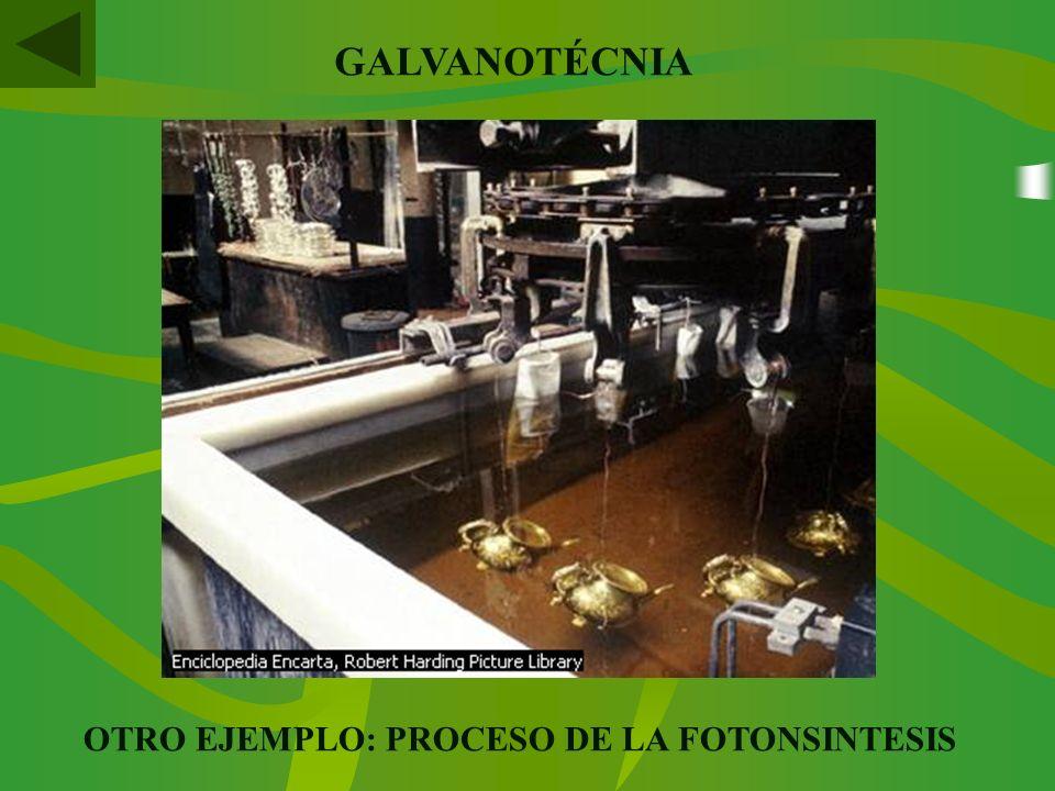 OTRO EJEMPLO: PROCESO DE LA FOTONSINTESIS GALVANOTÉCNIA