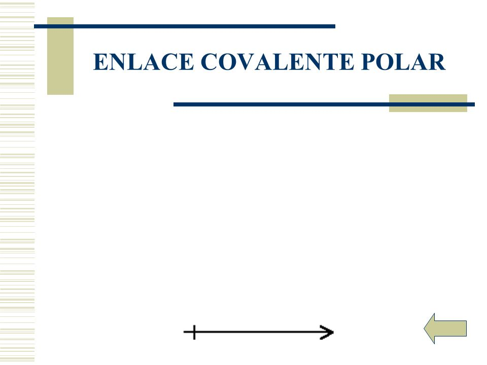 ENLACE COVALENTE POLAR