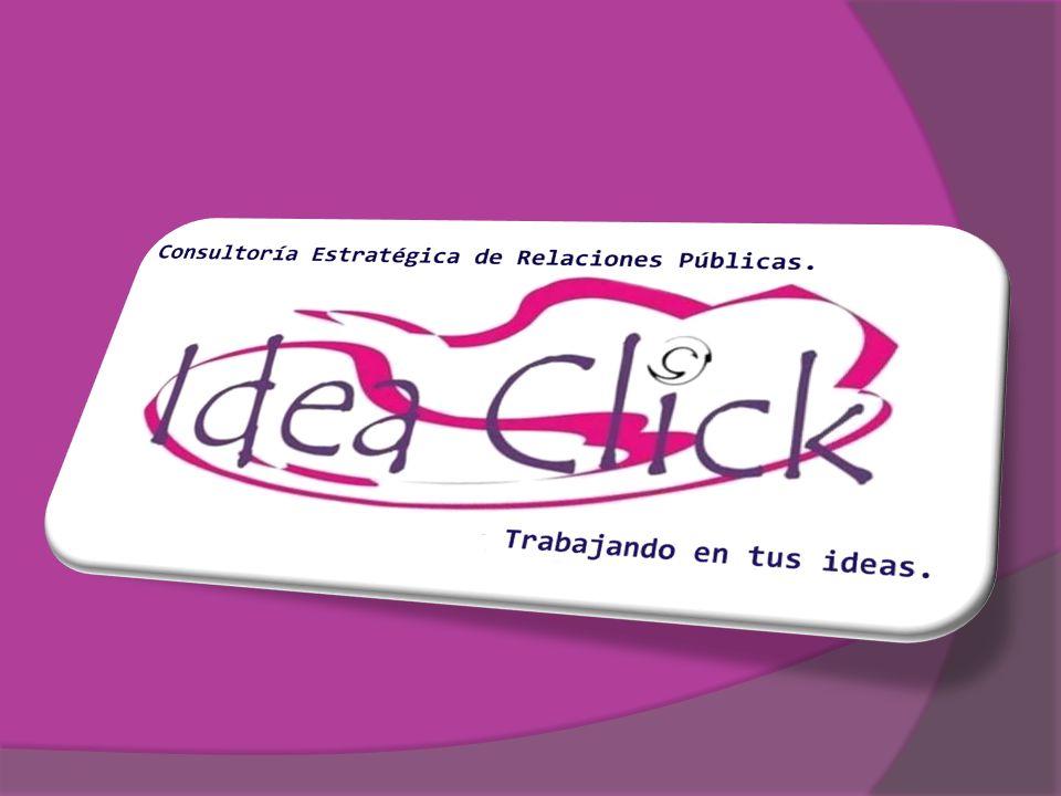 SERVICIOS QUE OFRECE IDEA CLICK SERVICIOS DE COMUNICACIÓN Y PRENSA SERVICIOS DE COMUNICACIÓN Y PRENSA DISEÑO DE ESTRATEGIAS DISEÑO DE ESTRATEGIAS ORGANIZACIÓN PROFESIONAL DE EVENTOS Y CONGRESOS ORGANIZACIÓN PROFESIONAL DE EVENTOS Y CONGRESOS