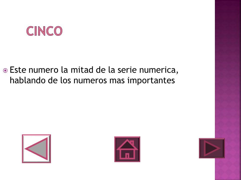 Este numero la mitad de la serie numerica, hablando de los numeros mas importantes