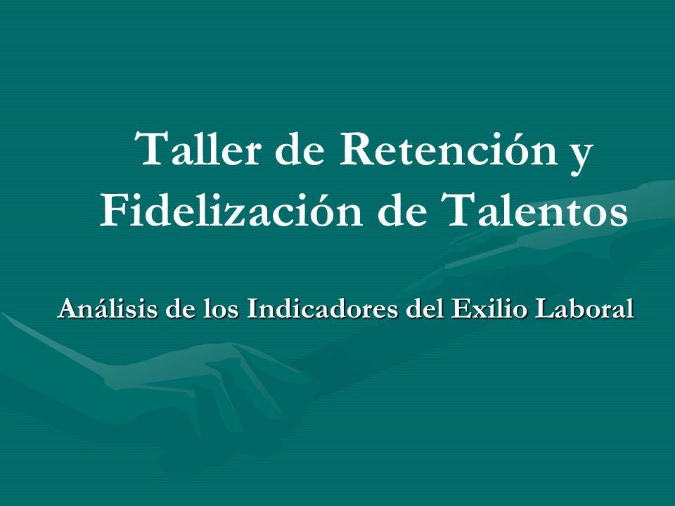 Taller de Retención y Fidelización de Talentos Análisis de los Indicadores del Exilio Laboral