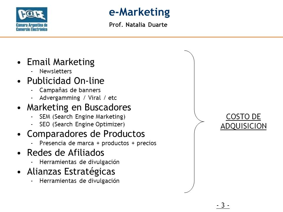 Prof.Natalia Duarte e-Marketing - 24 - ¿Preguntas.