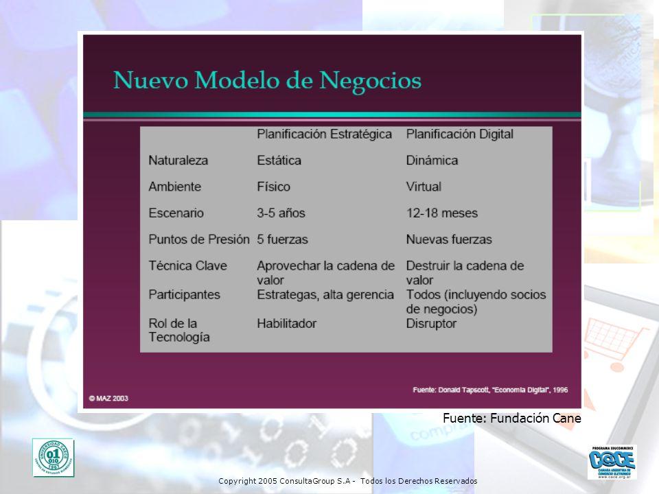 Copyright 2005 ConsultaGroup S.A - Todos los Derechos Reservados Fuente: Fundación Cane
