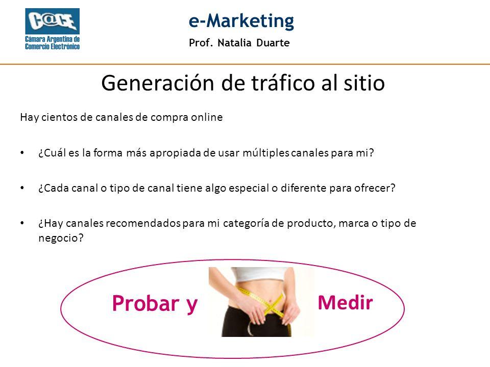 Prof. Natalia Duarte e-Marketing Hay cientos de canales de compra online ¿Cuál es la forma más apropiada de usar múltiples canales para mi? ¿Cada cana