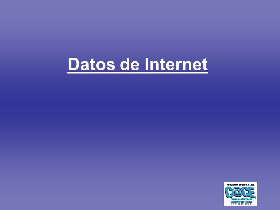 - 4 - Edad de los usuarios 200420052006 Hasta 24 años334652 25 a 34 años3120 35 a 44 años171310 45 a 54 años1310 55 años y más6118 Sexo de los usuarios 200420052006 Masculino585253 Femenino424847 De cada 10 personas Datos de Argentina 9 de cada 10 personas tom ó la decisi ó n de compra en internet.