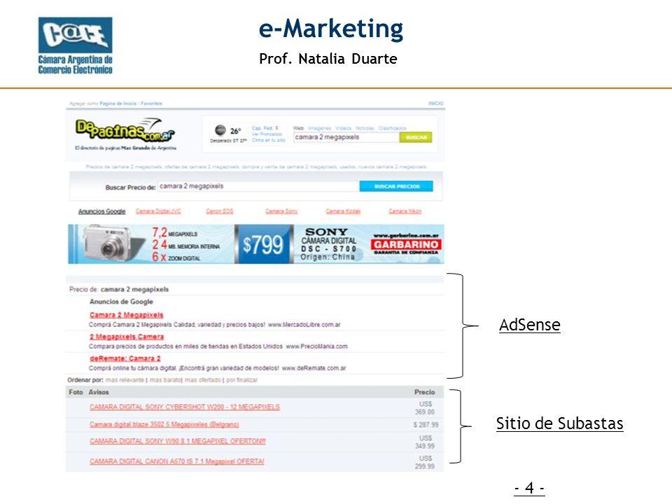 Prof. Natalia Duarte e-Marketing - 4 - AdSense Sitio de Subastas