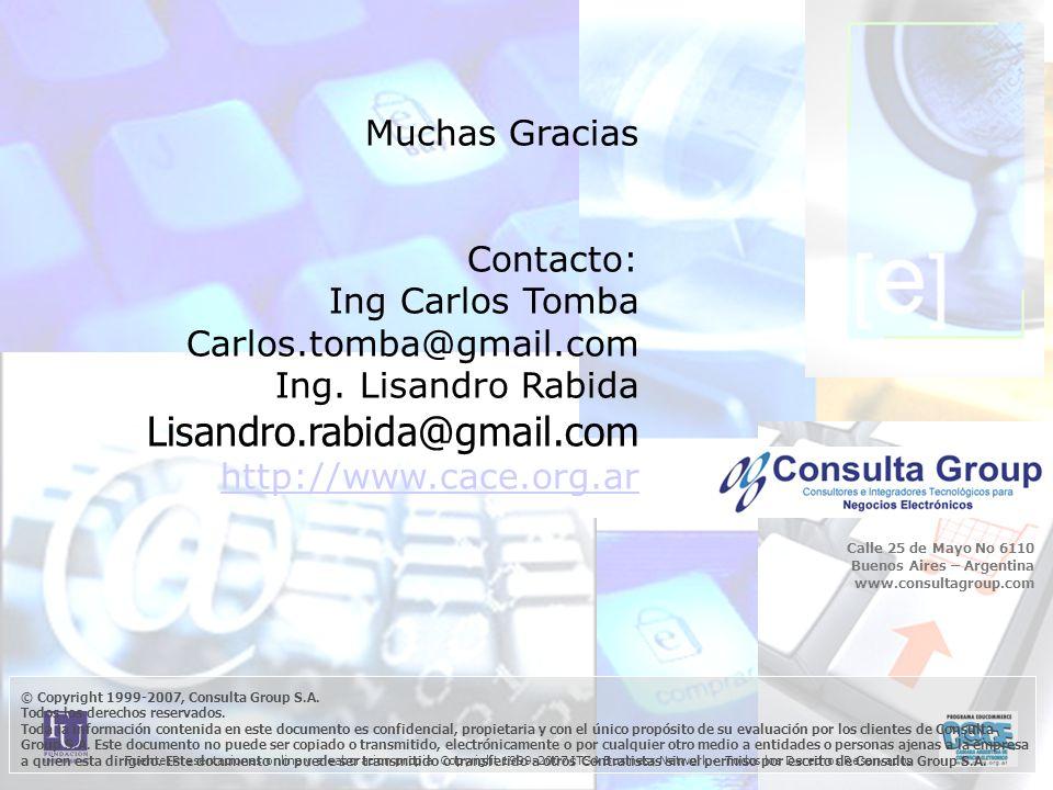 Fuente:Presentaciones online y eleaboracion propia Copyright 1999-2007 ITSA Business Network - Todos los Derechos Reservados © Copyright 1999-2007, Consulta Group S.A.