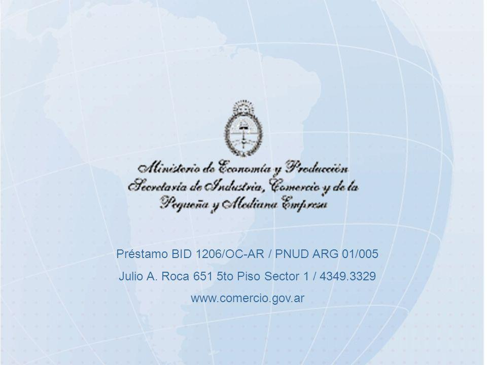 Préstamo BID 1206/OC-AR / PNUD ARG 01/005 Julio A.