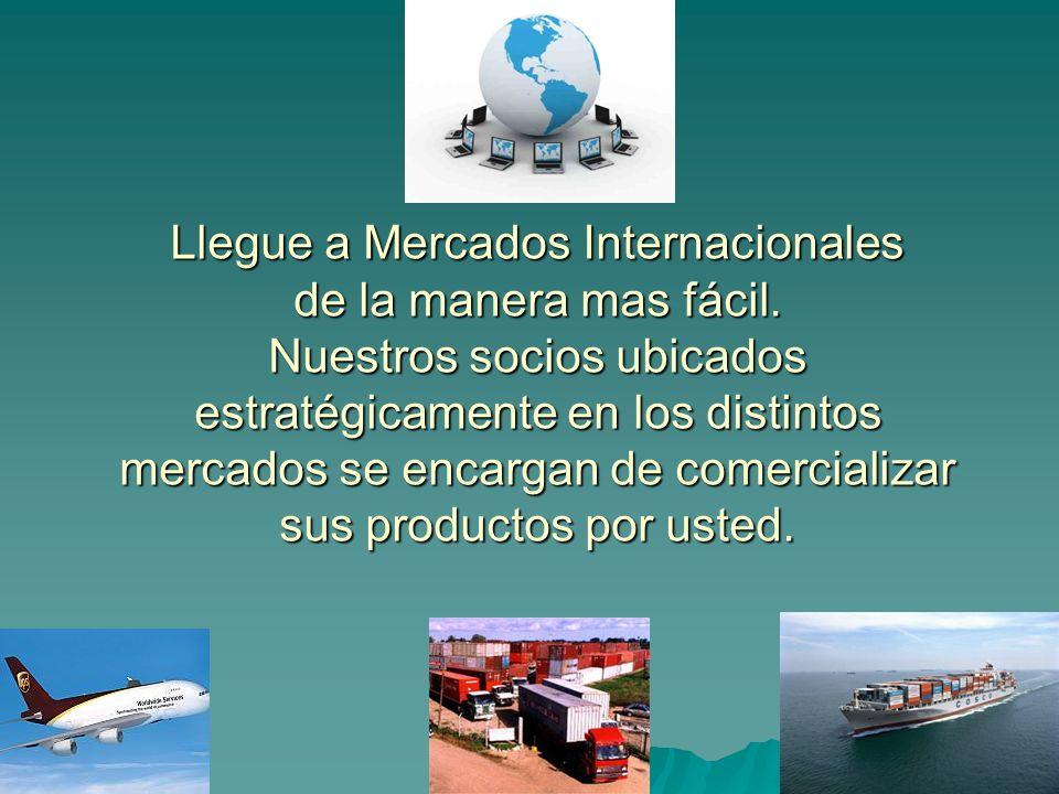 Llegue a Mercados Internacionales de la manera mas fácil.
