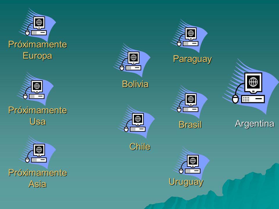 Argentina Brasil Bolivia Próximamente Europa Paraguay Chile Uruguay Próximamente Usa Próximamente Asia