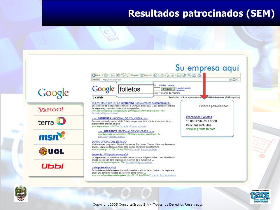 Copyright 2005 ConsultaGroup S.A - Todos los Derechos Reservados Resultados patrocinados (SEM)