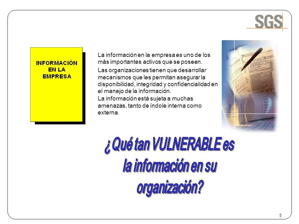 La información en la empresa es uno de los más importantes activos que se poseen. Las organizaciones tienen que desarrollar mecanismos que les permita