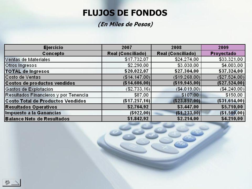 FLUJOS DE FONDOS (En Miles de Pesos)