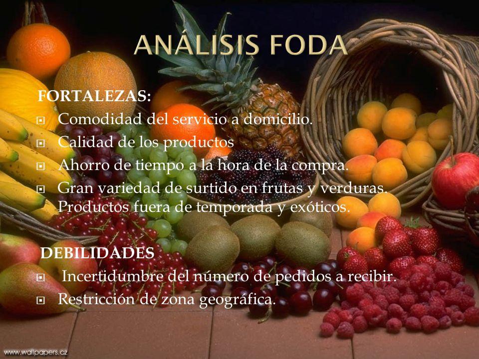 NEGOCIO: Delivery de frutas y verduras a pedido. MISIÓN: Hacer de Delivery Fruit, una empresa orientada a la satisfacción del cliente que, mediante el