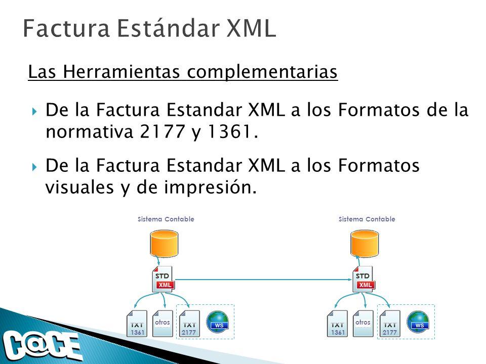 De la Factura Estandar XML a los Formatos de la normativa 2177 y 1361. De la Factura Estandar XML a los Formatos visuales y de impresión. Las Herramie