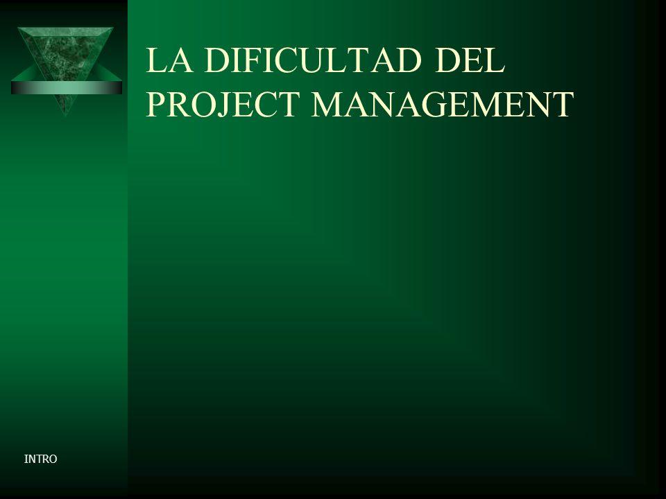 LA DIFICULTAD DEL PROJECT MANAGEMENT INTRO
