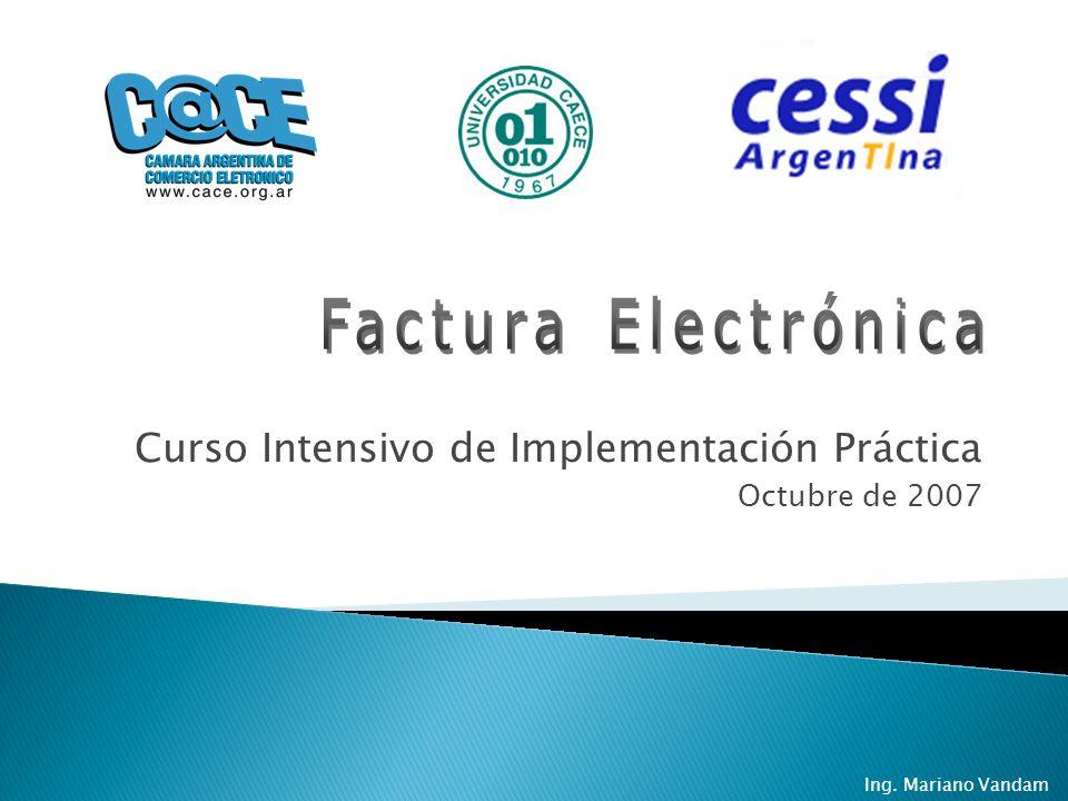 Curso Intensivo de Implementación Práctica Octubre de 2007 Ing. Mariano Vandam
