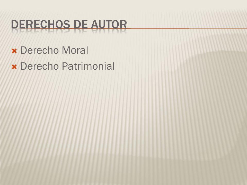 Derecho Moral Derecho Patrimonial