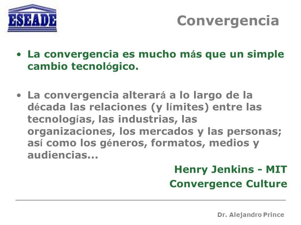 Dr. Alejandro Prince La convergencia es mucho m á s que un simple cambio tecnol ó gico.