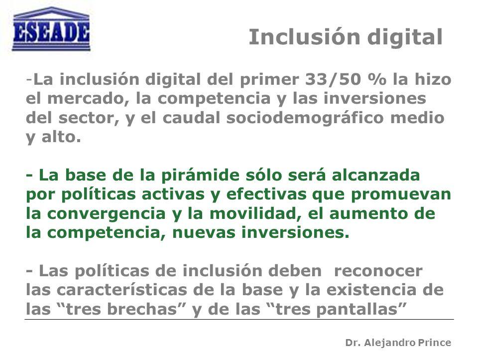 Dr. Alejandro Prince -La inclusión digital del primer 33/50 % la hizo el mercado, la competencia y las inversiones del sector, y el caudal sociodemogr