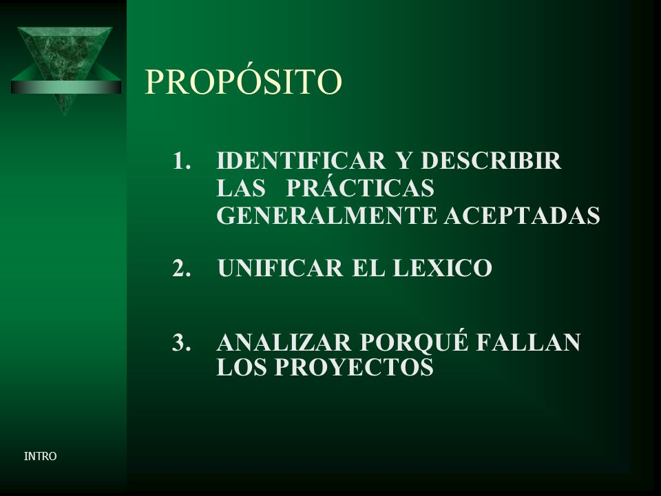 PROPÓSITO 4. USTED UN PROJECT MANAGER? INTRO
