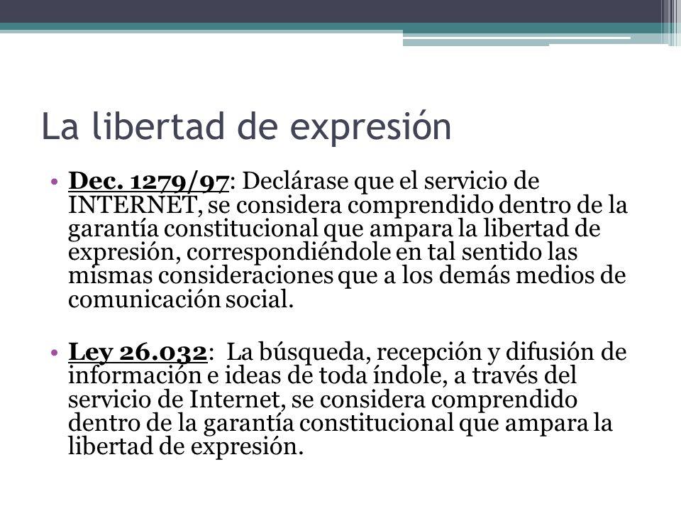 La libertad de expresión Dec.