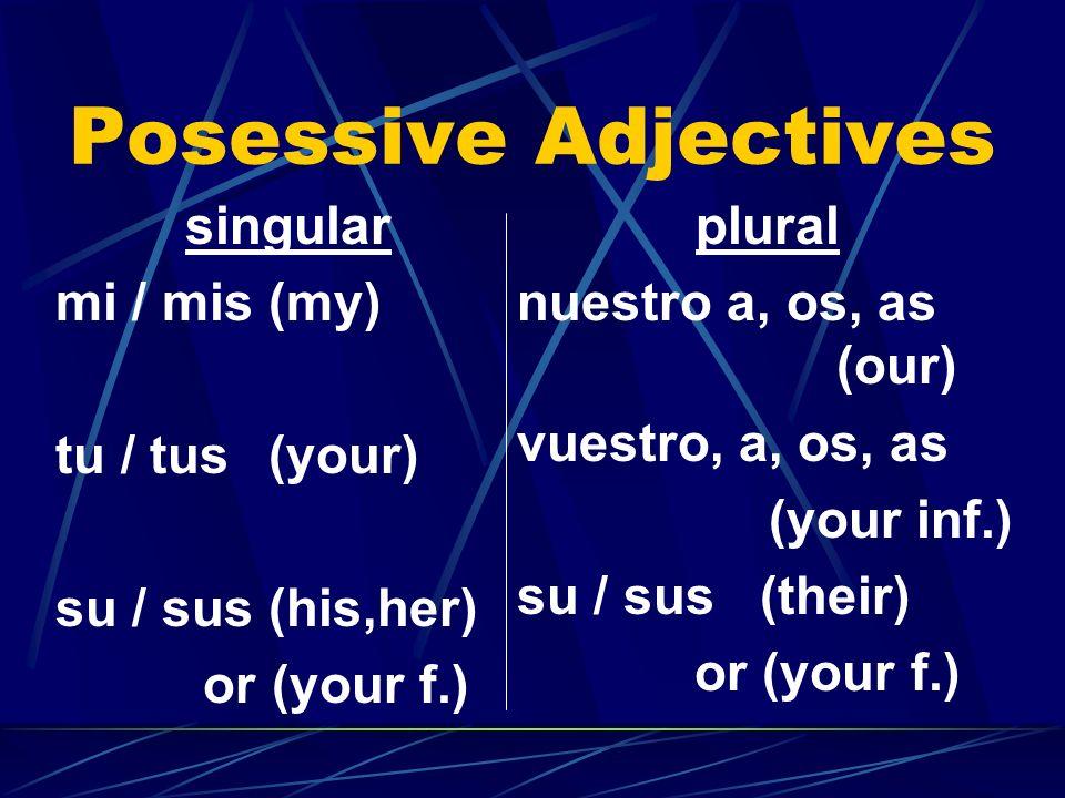 B. Translate the following phrases to Spanish: 7. Marías brother el hermano de María 8. Pacos granddaughter la nieta de Paco 9. Pablo and Lucías grand