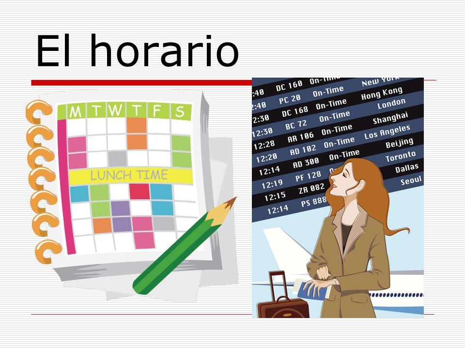 El horario-grammar ¿Qué clases tienes.