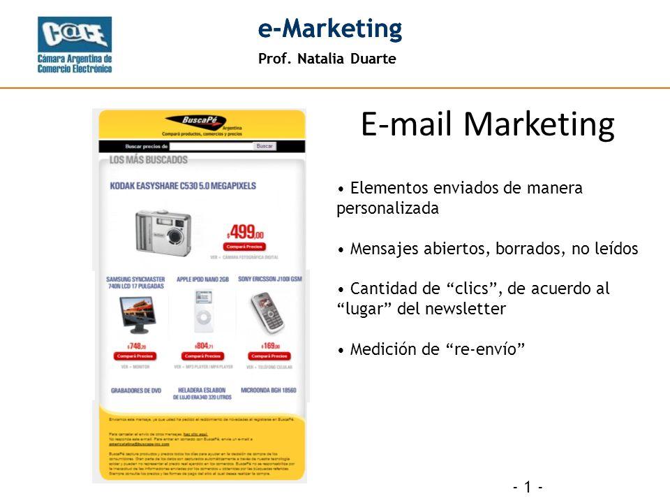 Prof. Natalia Duarte e-Marketing Prof. Natalia Duarte e-Marketing - 12 -