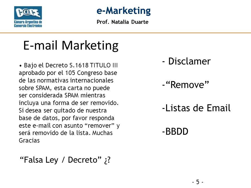 Prof.Natalia Duarte e-Marketing Prof.