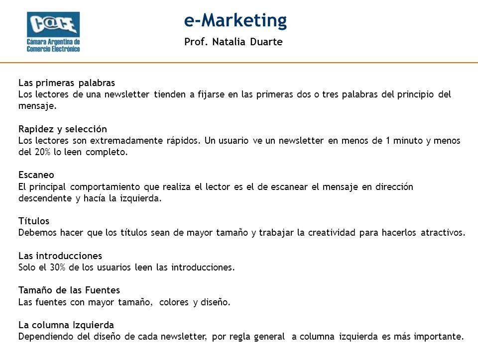 Prof. Natalia Duarte e-Marketing Prof. Natalia Duarte e-Marketing - 10 -