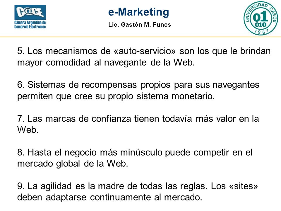 Lic.Gastón M. Funes e-Marketing 5.