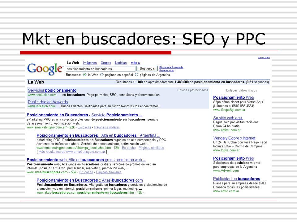 Mkt en buscadores: SEO y PPC